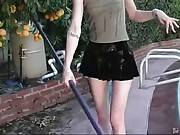 Cute Skinny Blonde Wants Some Black Rods 1