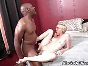 Black Dude Bangs Sweet Blond Slutie 1