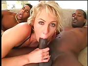 Sexy White Chick Fucks With Two Black Studs 2