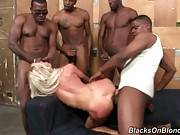 Horny Black Men Are Sharing Awesome Blonde 3