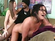 Lucky Black Guy Drills White Milf And Her Daughter 1