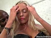 Hot Shaped Blondie Adores Black Dicks 4