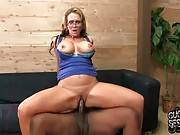 Horny Booty Blonde Rides Massive Black Cock 3