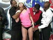 What happens when you add one dirty white girl with nearly a dozen angry black guys? Answer: you get an interracial blow bang that's completely off the charts. Maddy Oreilly