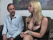 Sexy blonde and her daddy