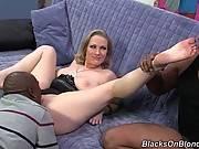 Hungry Black Men Scare Blondie 2