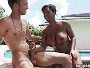 Yummy Black Babe Anna Halo Owns Huge Tits 2