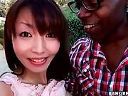 Asian Sweetie Faces Large Black Dick 1